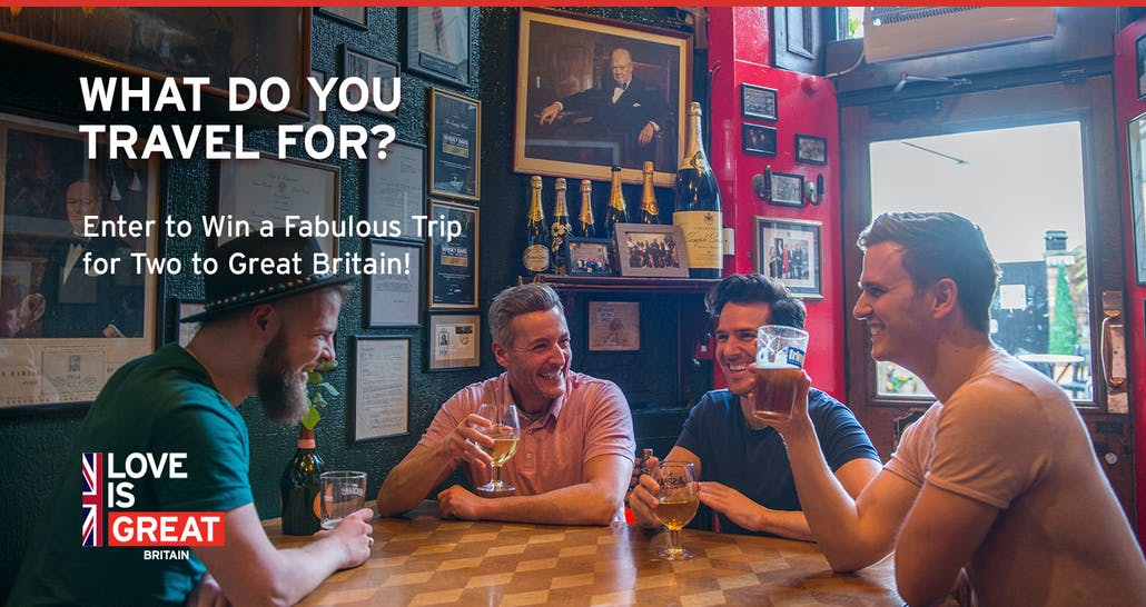 What do you travel for? Enter to win a fabulous trip to Great Britain